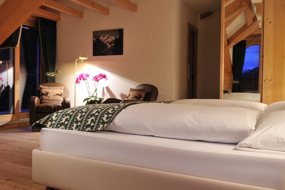 Hotel Albris Dachzimmer Roseg